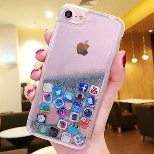 Accessories - iPhone Glitter Icon Case